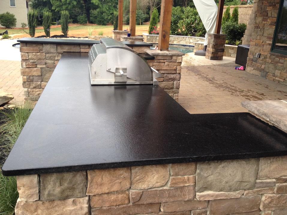 Black Leather Granite : Leathered granite lake norman cabinetry